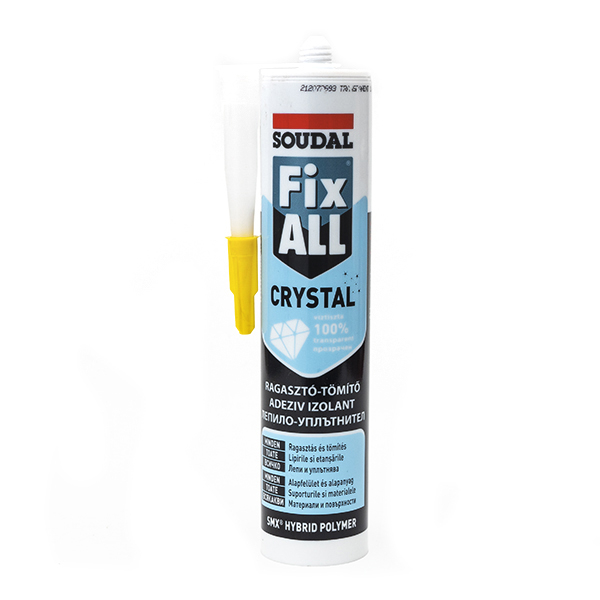 Soudal Fix All Crystal ragasztó-tömítő